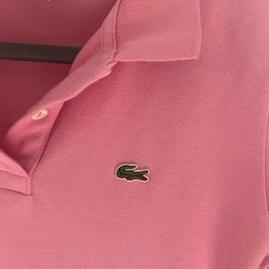 Lacoste Tops - Lacoste Pink slim fit polo